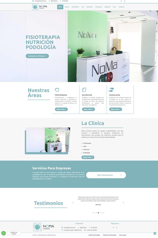 Pagina web para clinicas